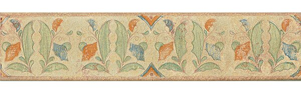 Harvest 14 x 3 Tira Versilia Hand Painted Liner Tile in Autumn by Grayson Martin