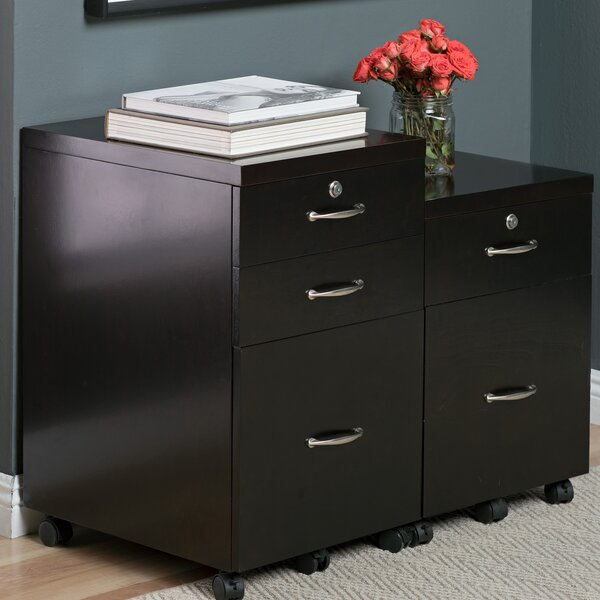 Newel 3-Drawer Mobile Vertical Filing Cabinet by Studio Designs HOME