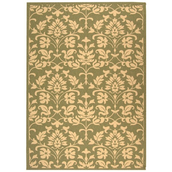 Bexton Olive/Natural Outdoor Area Rug by Alcott Hill