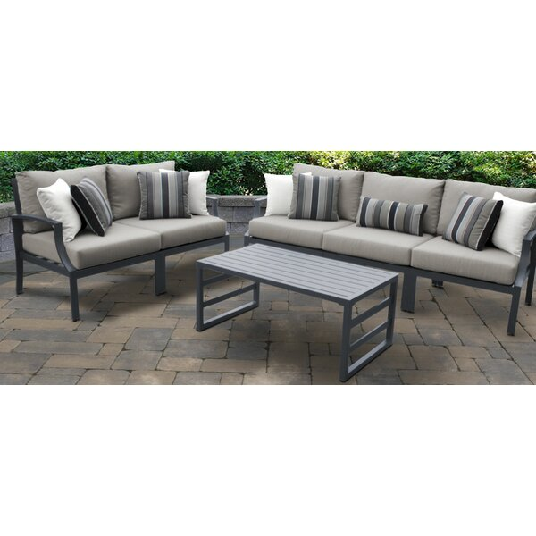Benner Outdoor Aluminum 6 Piece Seating Group with Cushion by Ivy Bronx
