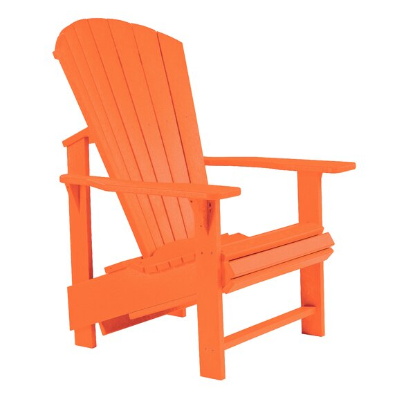 Generation Line Upright Plastic/Resin Adirondack Chair by CR Plastic Products CR Plastic Products