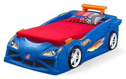 Hot Wheels™ Race Twin Car Bed by Step2