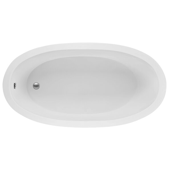 Oval End Drain 72 x 36 Soaking Bath by Reliance