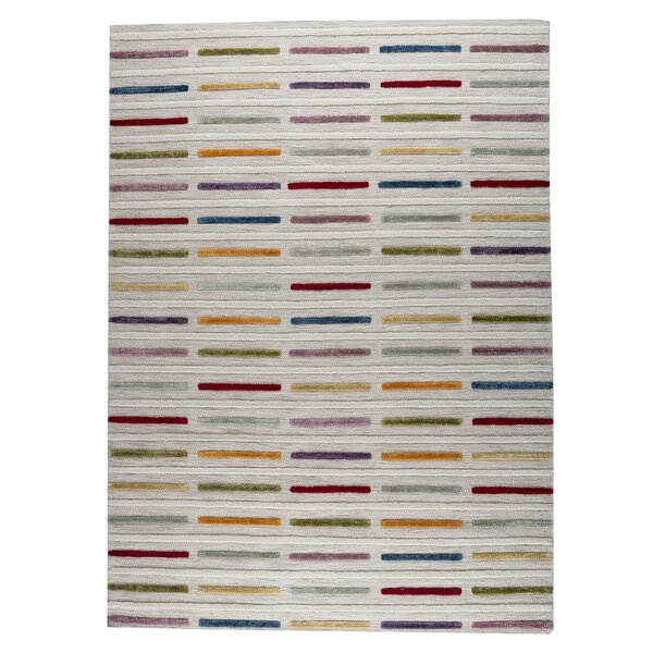Khema 5 Hand-Woven Gray/Purple/Yellow Area Rug by M.A. Trading