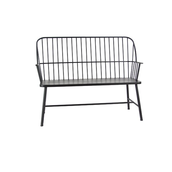 Gehlert Traditional Patio Iron Garden Bench by Gracie Oaks
