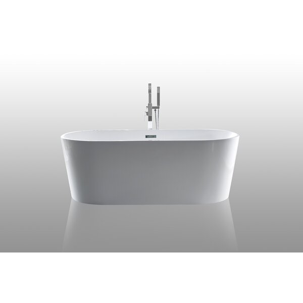 59 x 24 Scarlett Freestanding Soaking Bathtub by CastelloUSA