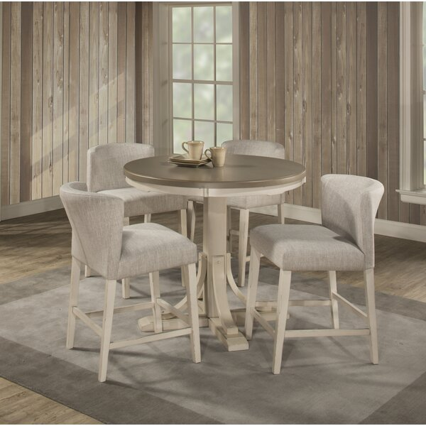 Kinsey Modern 5 Piece Dining Set by Rosecliff Heights