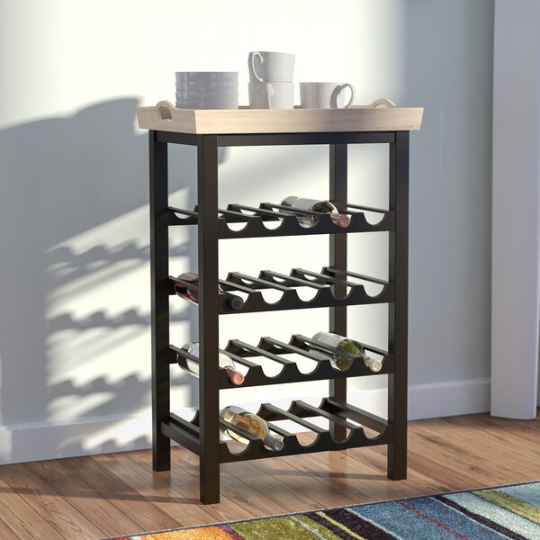 Eberhart 20 Bottle Floor Wine Bottle Rack by Red Barrel Studio Red Barrel Studio