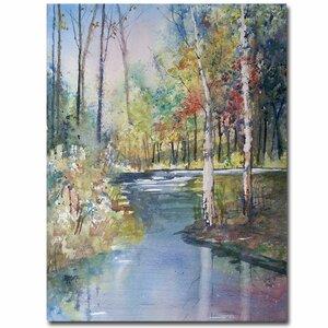 'Hartman Creek Birches' by Ryan Radke Framed Painting Print on Wrapped Canvas by Trademark Fine Art