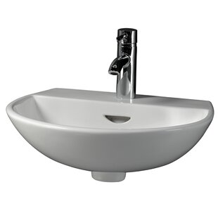 Reserva 550 Vitreous China 22 Wall Mount Bathroom Sink with Overflow Barclay