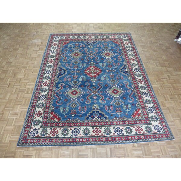 One-of-a-Kind Padula Tribal Hand-Knotted Wool Blue Area Rug by Bloomsbury Market