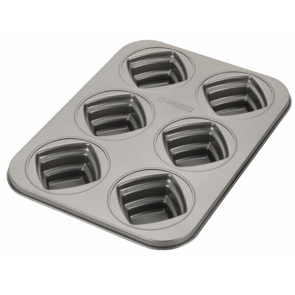 Novelty Non-Stick 6 Cup Square Mold by Cake Boss