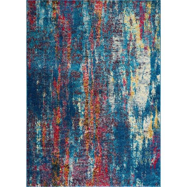 Gillon Vigo Blue Area Rug by Wrought Studio