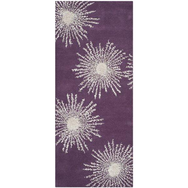 Chidi Purple & Ivory Area Rug by Ebern Designs