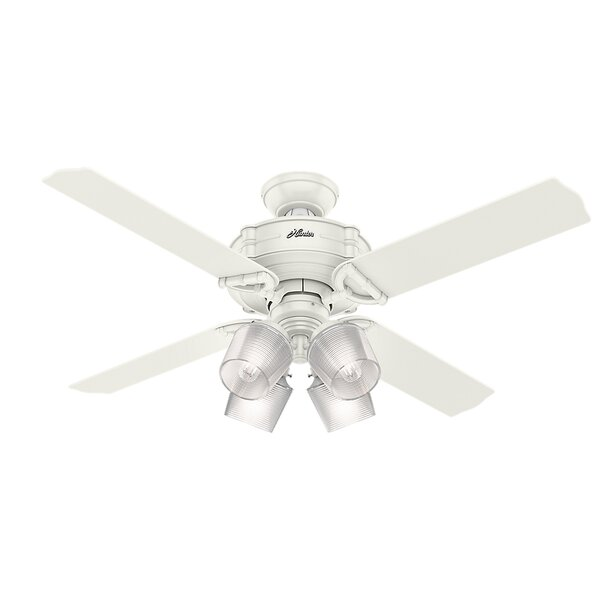 52 Brunswick Wi-Fi 4 Blade LED Ceiling Fan with Remote by Hunter Fan