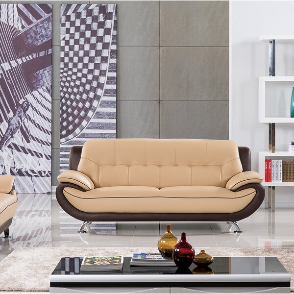 Vickrey Leather Loveseat by Latitude Run
