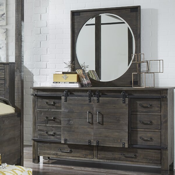Monett 8 Drawer Combo Dresser with Mirror by Foundry Select