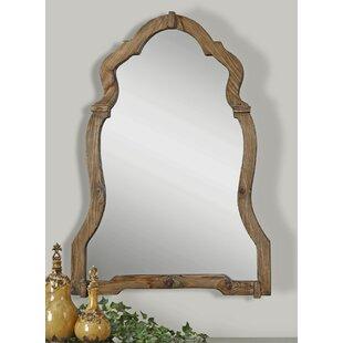 One Allium Way Walnut Wood Wall Mirror
