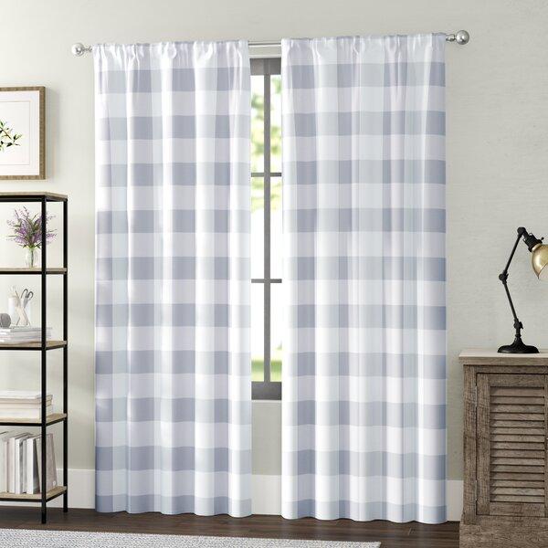 Cathryn Semi-Sheer Rod Pocket Curtain Panels by Laurel Foundry Modern Farmhouse