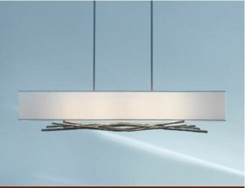 Brindille 4-Light Square/Rectangle Chandelier by Hubbardton Forge