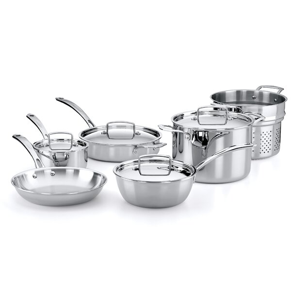 10-Piece Stainless Steel Cookware Set by The French Chefs