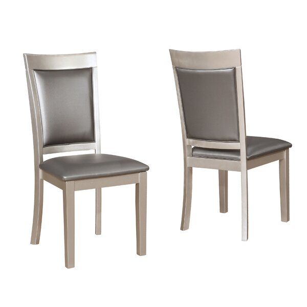 Kitterman Simplicity Solid Wood Dining Chair (Set of 2) by House of Hampton