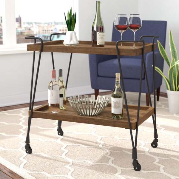 Desantiago Bar Cart By Mercury Row