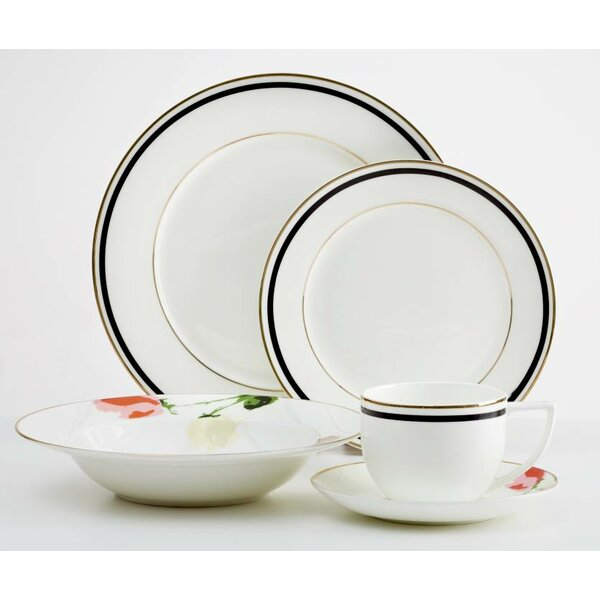 Jacqualine Flower 20 Piece Dinnerware Set, Service for 4 by Red Barrel Studio