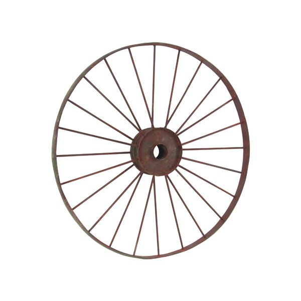 Osterley Distressed Iron Wheel Decor by Gracie Oaks