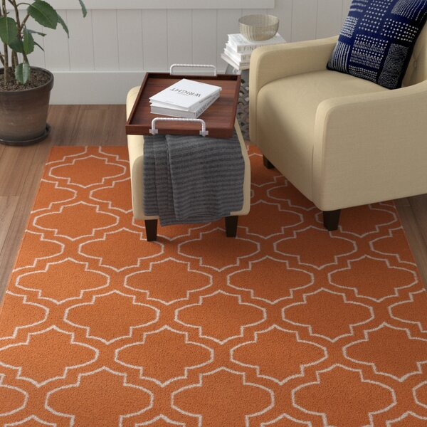 Aylesworth Orange Area Rug by Winston Porter