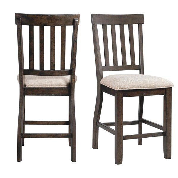 Hot Springs Counter Upholstered Dining Chair (Set of 2) by Three Posts