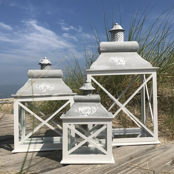 3 Piece Wood Lantern Set by Rosecliff Heights