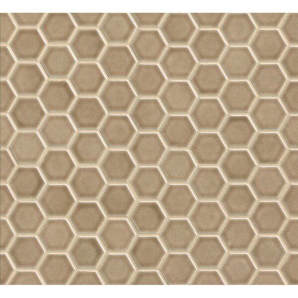 Park Place Hexagon Mosaic Tile in Brown by Grayson Martin