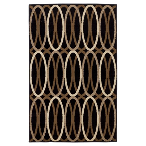 Overlapping Ovals Black/Brown Area Rug by Signature Design by Ashley