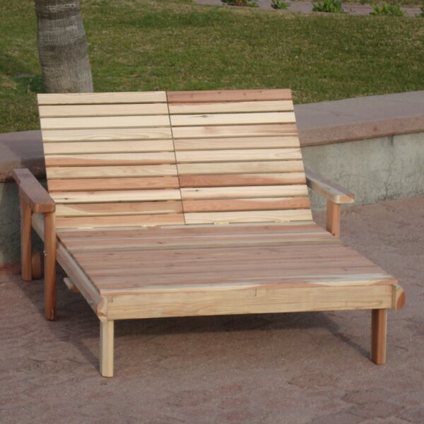 Henry Rustic Beach Double Chaise Lounge by Rosecliff Heights