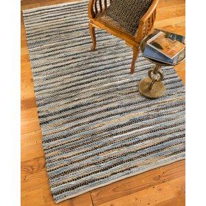 Malibu Hand-Loomed Blue/Brown Area Rug
