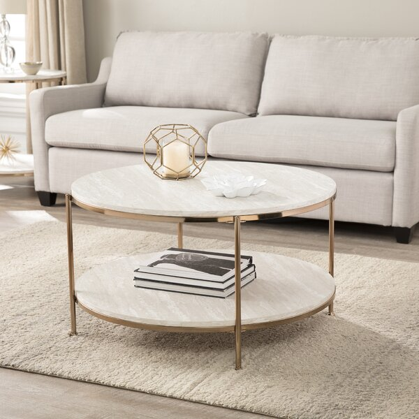Stamper Faux Stone Coffee Table by Home Loft Concept