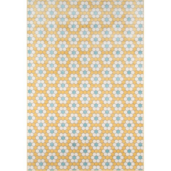 Hex Tile Indoor/Outdoor Yellow Area Rug by Novogratz By Momeni