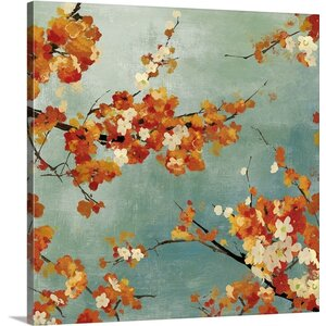 Blossoms II by Asia Jensen Painting Print on Wrapped Canvas by Great Big Canvas
