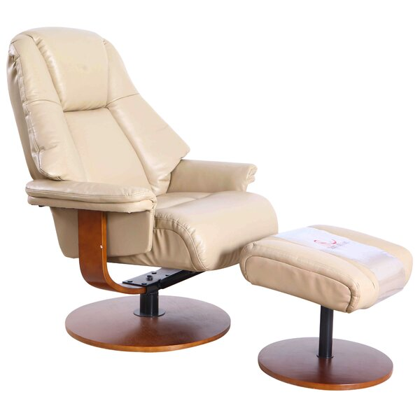 Knaack Manual Swivel Recliner with Ottoman W001844953