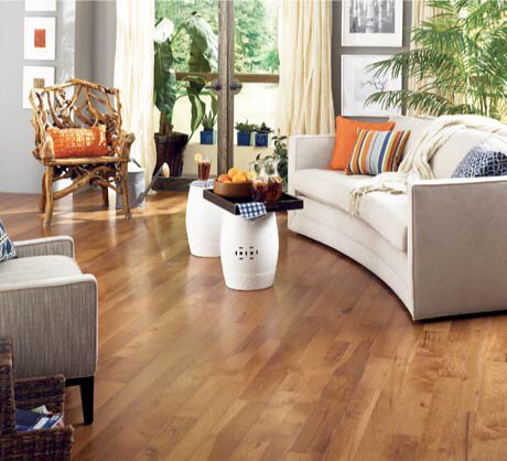Character 3-1/4 Solid Hickory Hardwood Flooring in Saddle by Somerset Floors