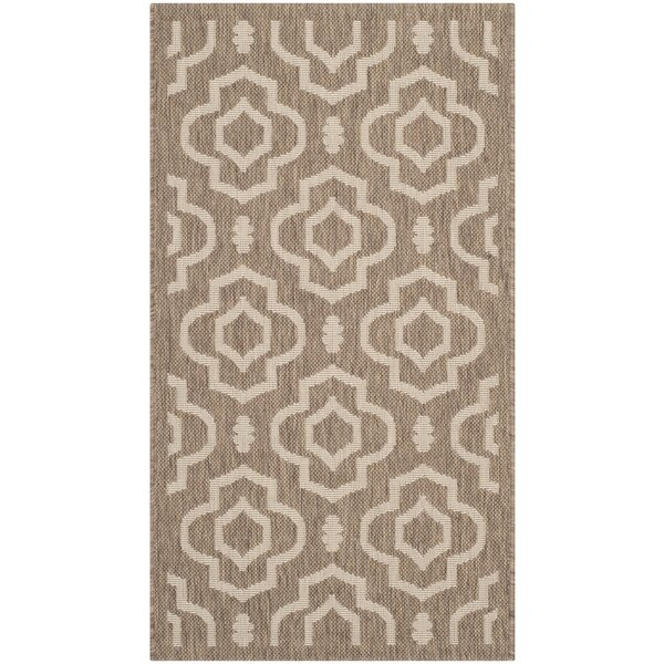 Larson Brown/Bone Indoor/Outdoor Area Rug by Sol 72 Outdoor