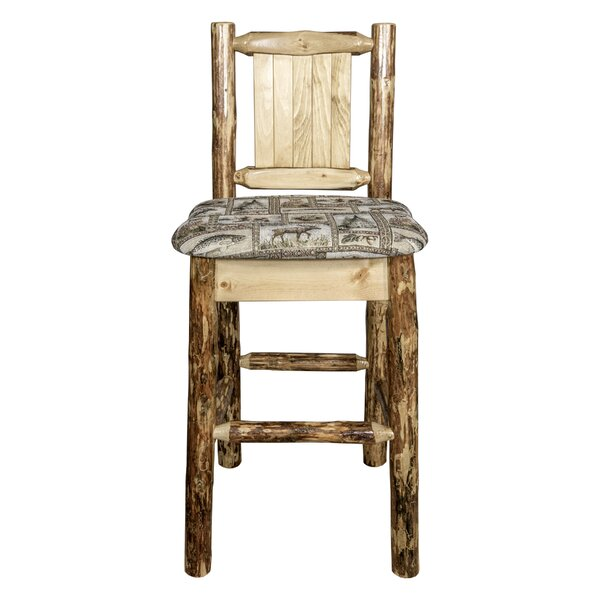 Southborough 24 Solid Wood Square Bar Stool by Loon Peak