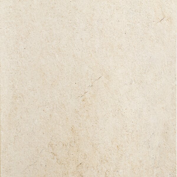 Jerusalem 24 x 24 Porcelain Field Tile in Avorio