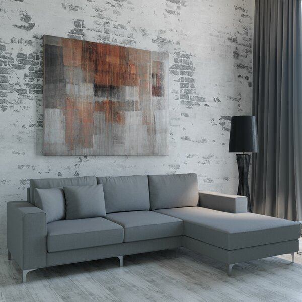 Pyper Right Hand Facing Leather Sectional By Brayden Studio