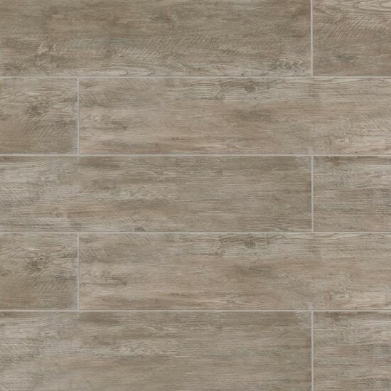 Santa Monica 8 x 36 Porcelain Field Tile in Matte Taupe by Grayson Martin