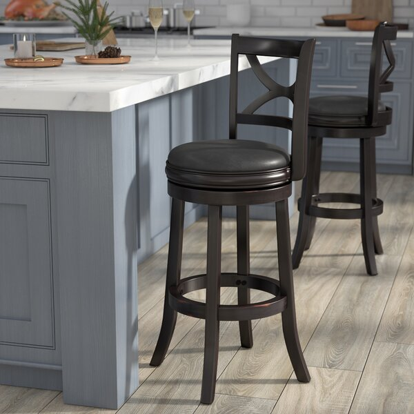 Burr 29 Swivel Bar Stool by Three Posts