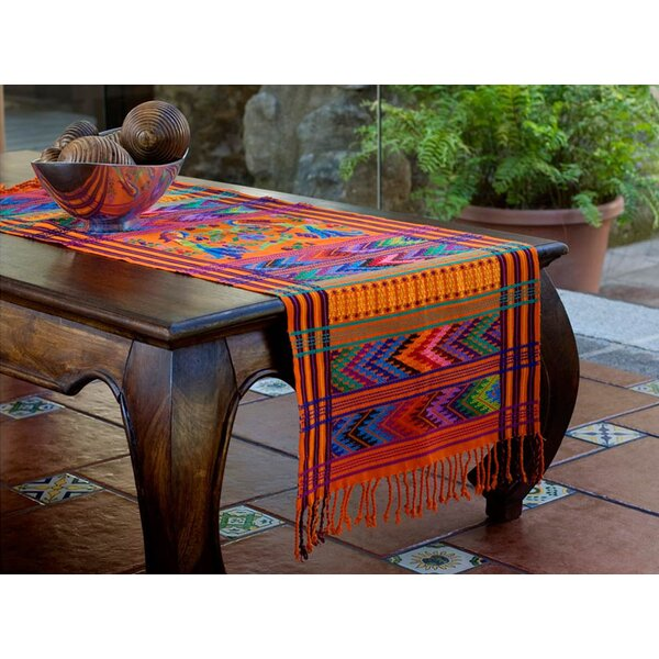 Hand Woven Animal Themed Cotton Table Runner by Novica