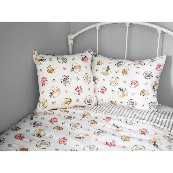 Flora Cotton Throw Pillow by Viv + Rae