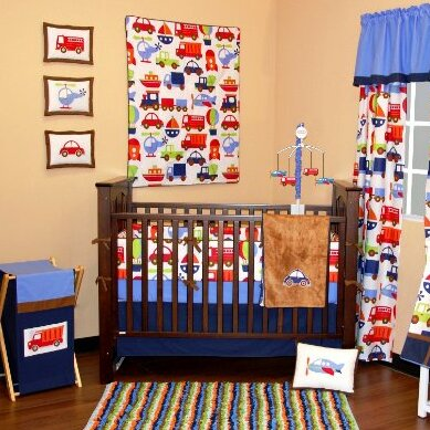 Transportation 10 Piece Crib Bedding Set by Bacati